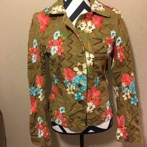 Johnny Was embroider blazer